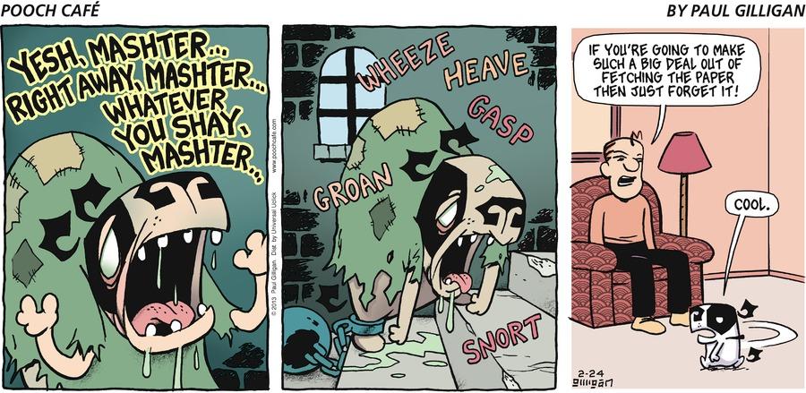 Pooch Cafe for Feb 24, 2013 Comic Strip
