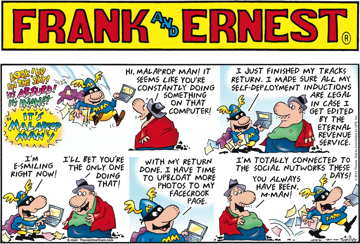 Frank and Ernest Comic Strip for April 08, 2012