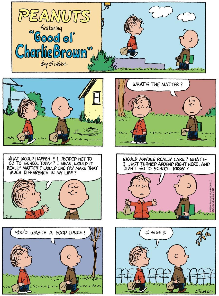 Peanuts Comic Strip for December 04, 2016