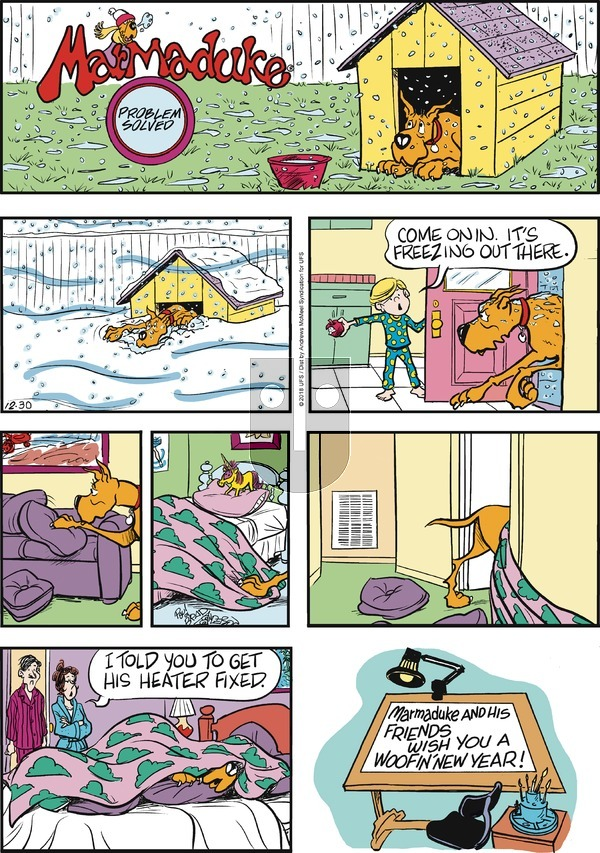 Marmaduke - Sunday December 30, 2018 Comic Strip