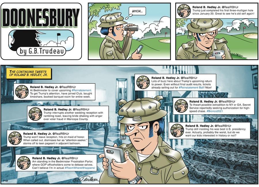 Doonesbury Comic Strip for July 18, 2021