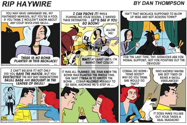 Rip Haywire on Sunday March 7, 2021 Comic Strip
