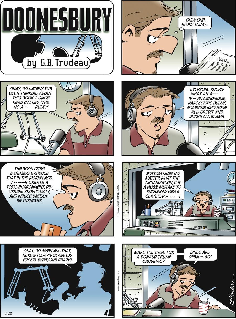 Doonesbury Comic Strip for May 22, 2011