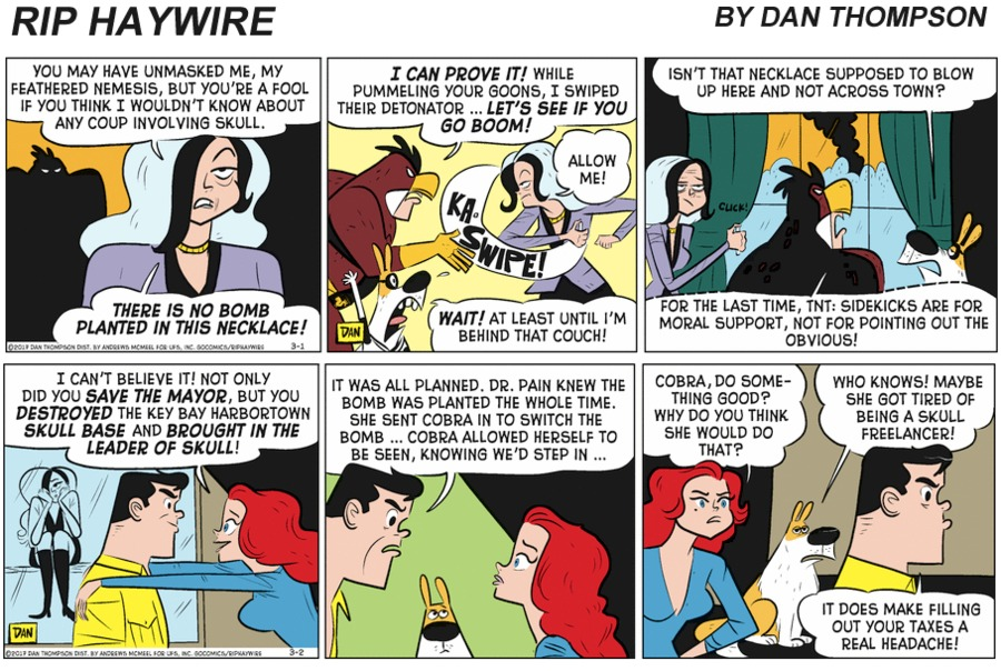 Rip Haywire Comic Strip for March 07, 2021