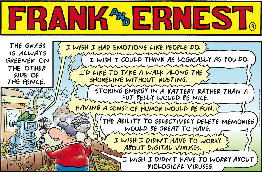 Frank and Ernest Comic Strip for October 18, 2020