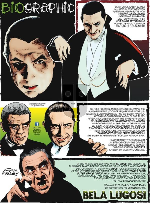 Biographic on Sunday October 28, 2012 Comic Strip