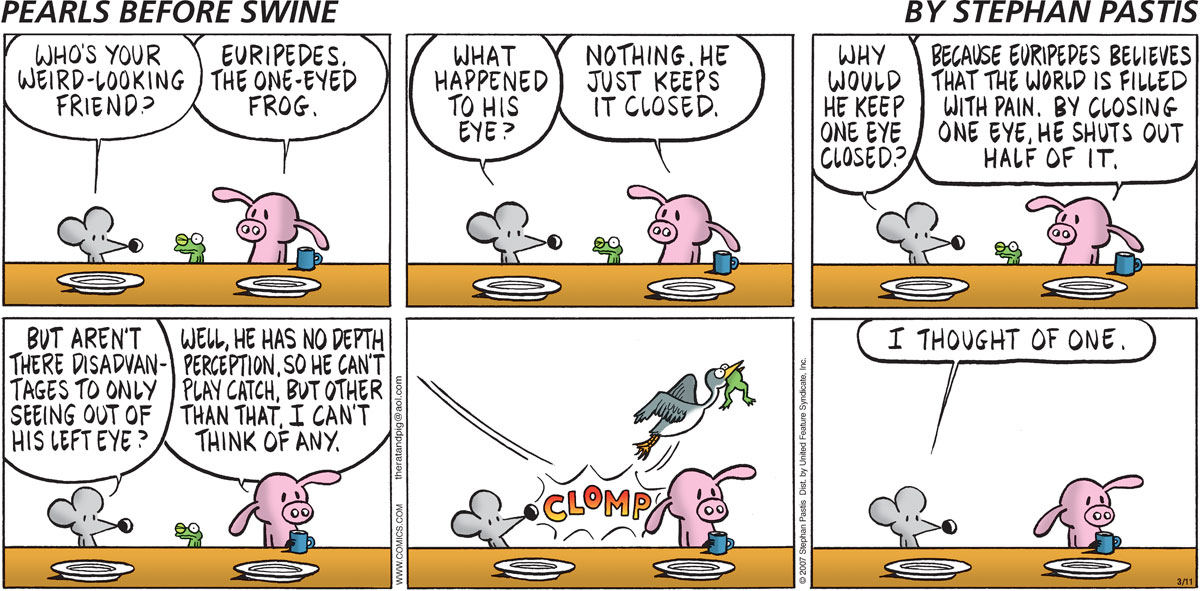 Pearls Before Swine Comic Strip for March 11, 2007