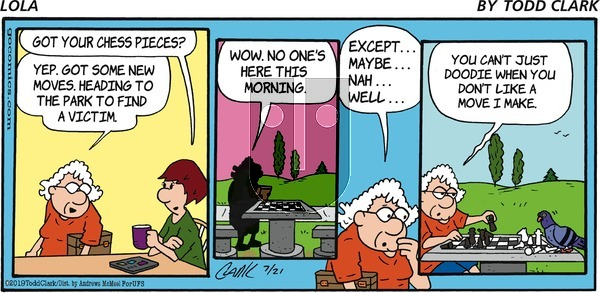 Lola on Sunday July 21, 2019 Comic Strip