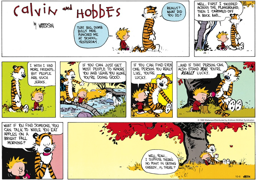 Calvin and Hobbes by Bill Watterson for October 06, 2019
