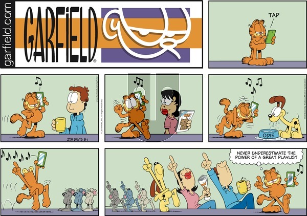 Garfield on Sunday September 1, 2019 Comic Strip