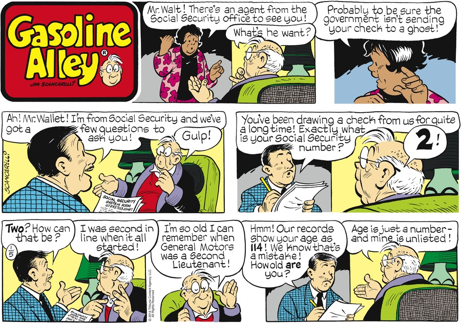 Gasoline Alley Comic Strip for January 05, 2014