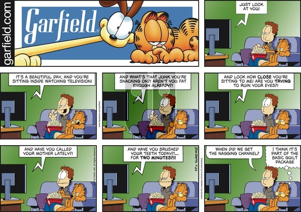 Garfield on Sunday July 22, 2018 Comic Strip