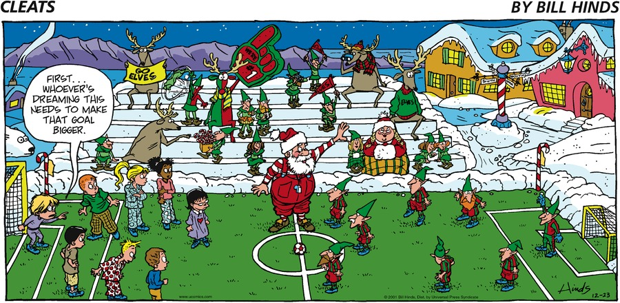 Cleats Comic Strip for December 23, 2001