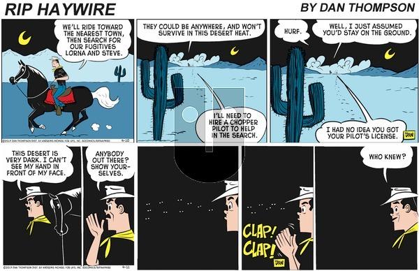 Rip Haywire on Sunday July 12, 2020 Comic Strip
