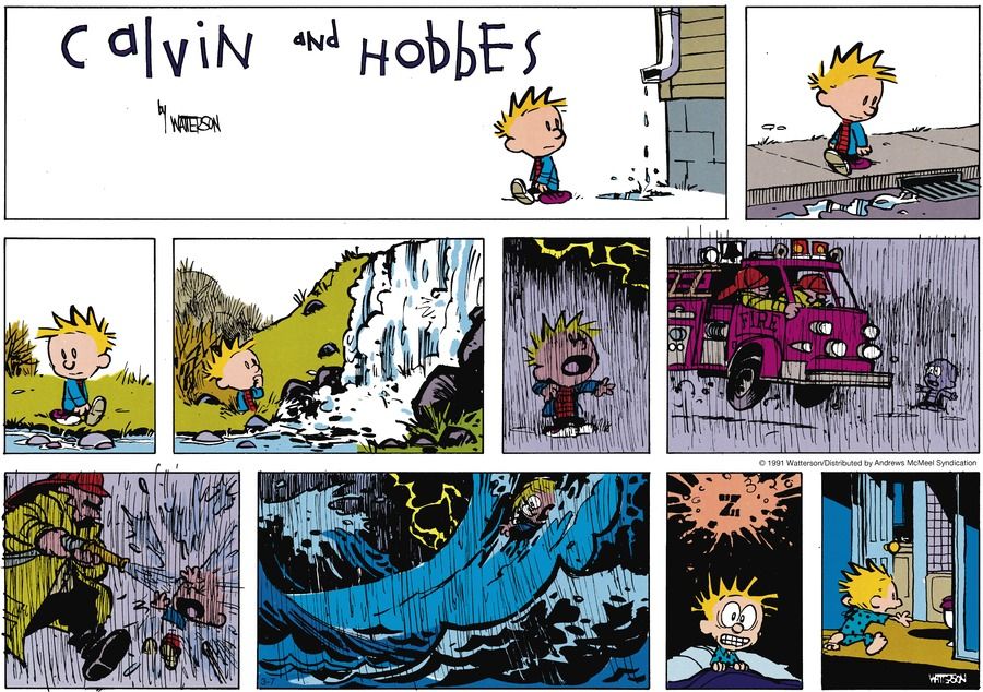 Calvin and Hobbes Comic Strip for March 07, 2021