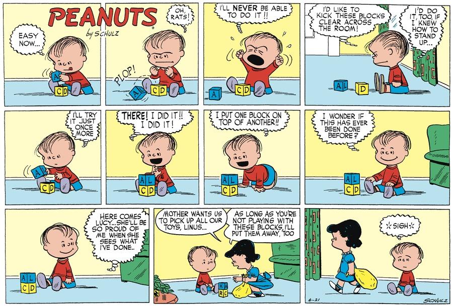 Peanuts Begins Comic Strip for June 19, 2021