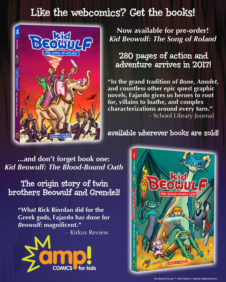 Kid Beowulf Comic Strip for November 23, 2016