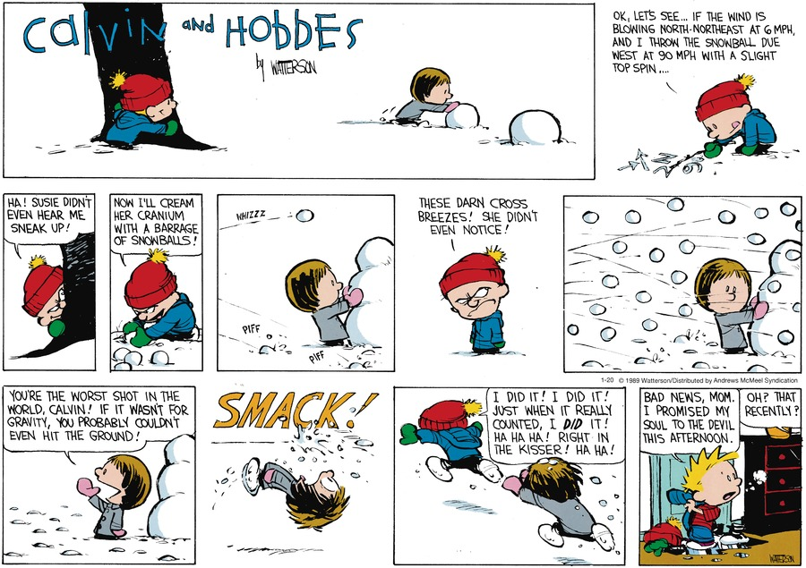 Calvin and Hobbes by Bill Watterson for January 20, 2019
