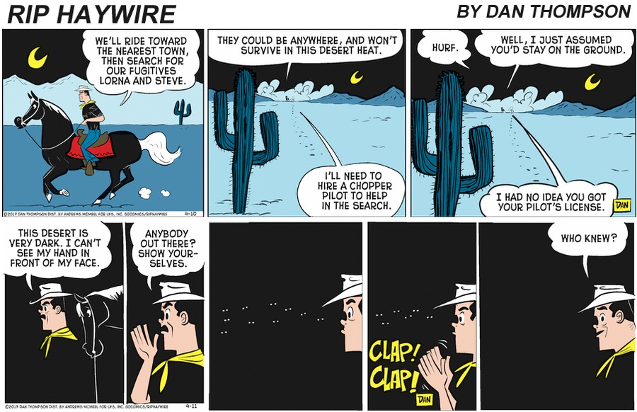 Rip Haywire Comic Strip for July 12, 2020