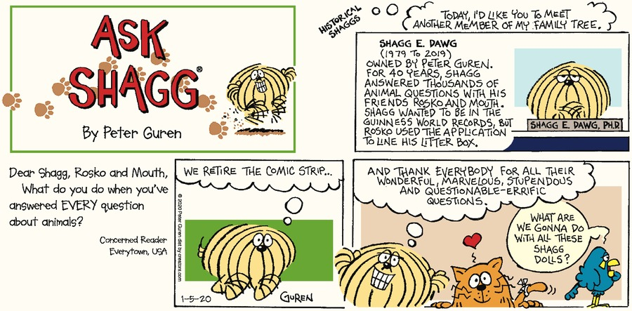 Ask Shagg Comic Strip for January 05, 2020