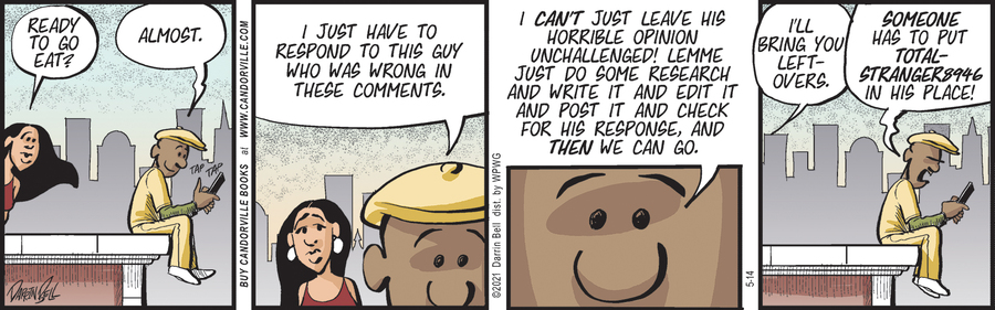 Candorville Comic Strip for May 14, 2021