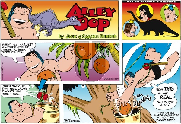 Alley Oop on Sunday March 31, 2002 Comic Strip