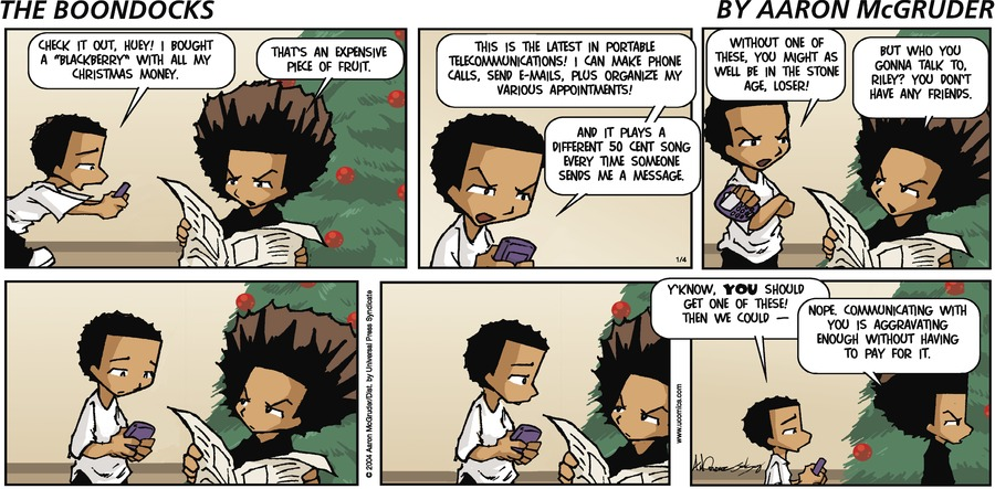 The Boondocks by Aaron McGruder for March 17, 2019