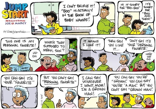 JumpStart - Sunday December 12, 2004 Comic Strip
