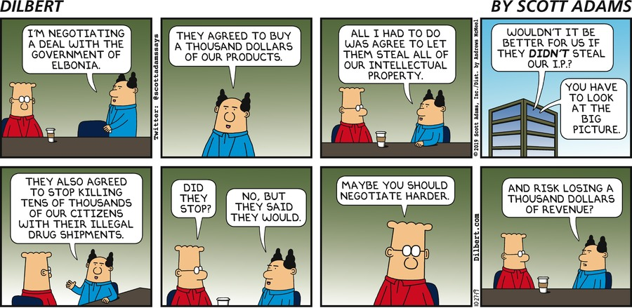 Boss Negotiates With Elbonia - Dilbert by Scott Adams