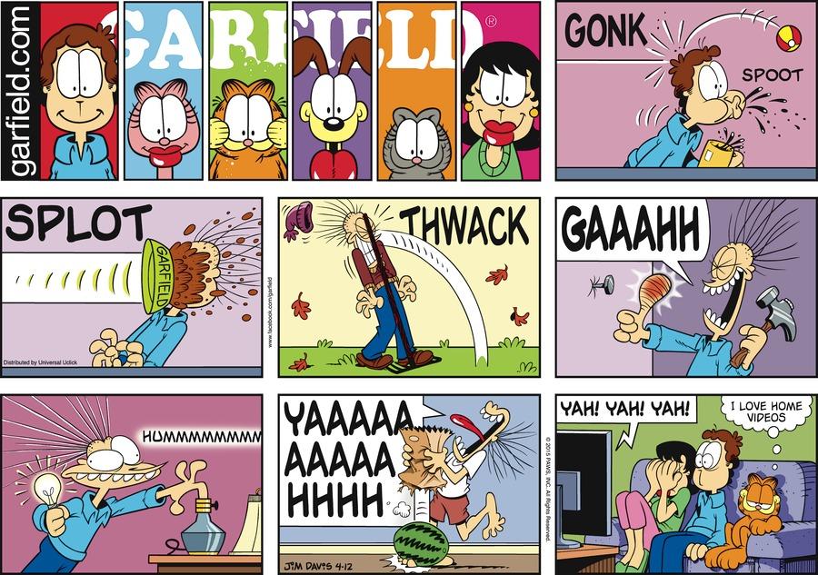 Garfield Comic Strip for April 12, 2015