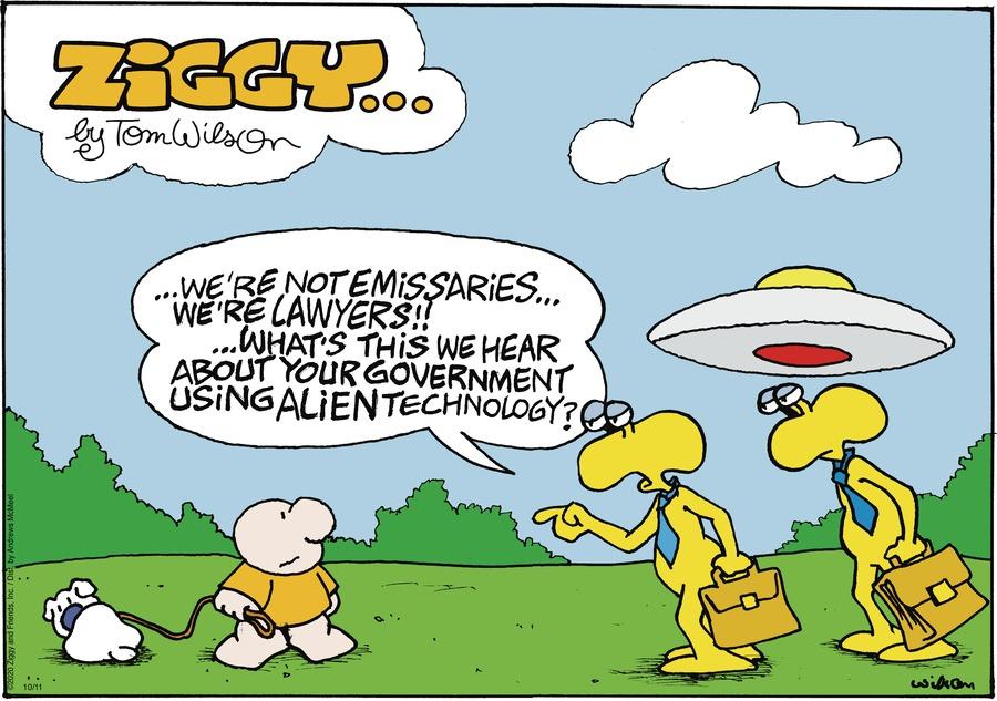 Ziggy Comic Strip for October 11, 2020