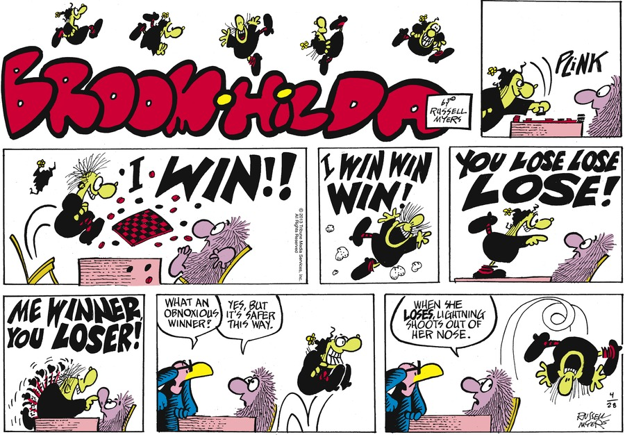 Broom Hilda for Apr 28, 2013 Comic Strip