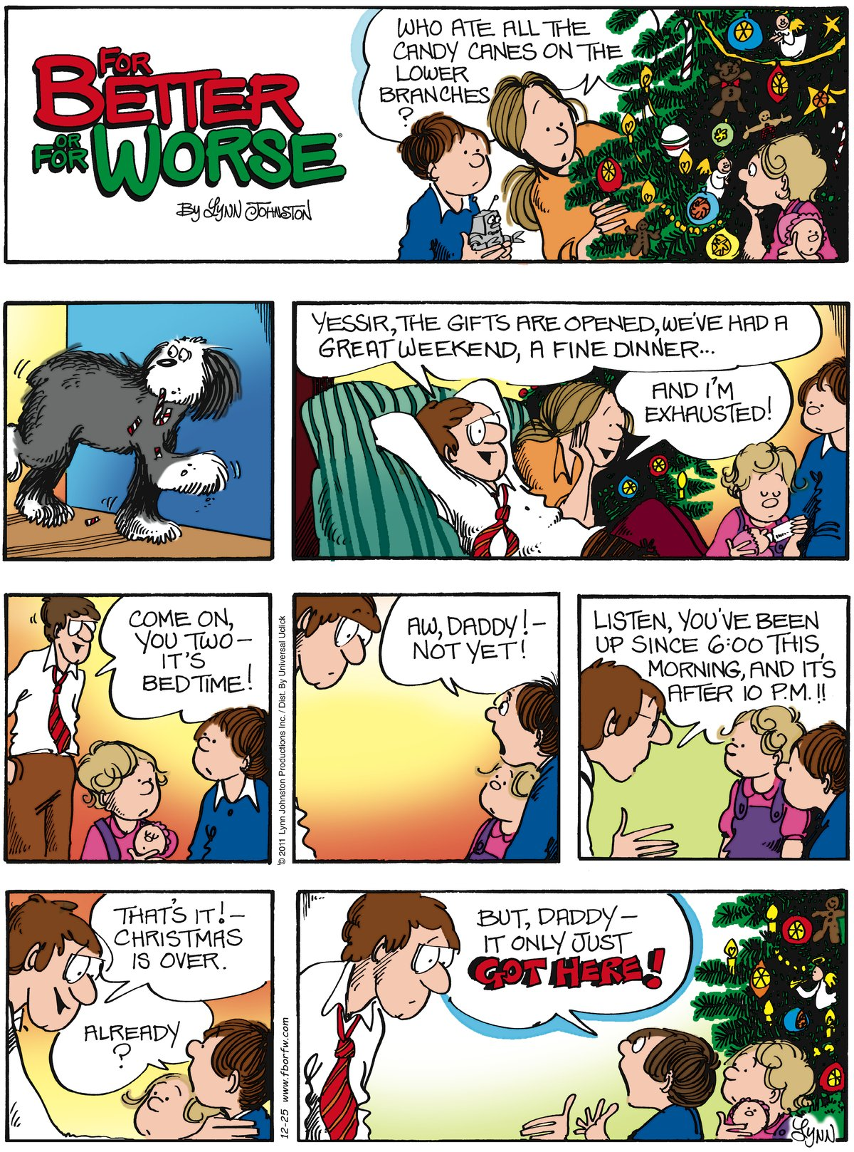 For Better or For Worse Comic Strip for December 25, 2011
