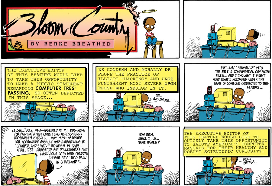 Bloom County Comic Strip for November 21, 2019