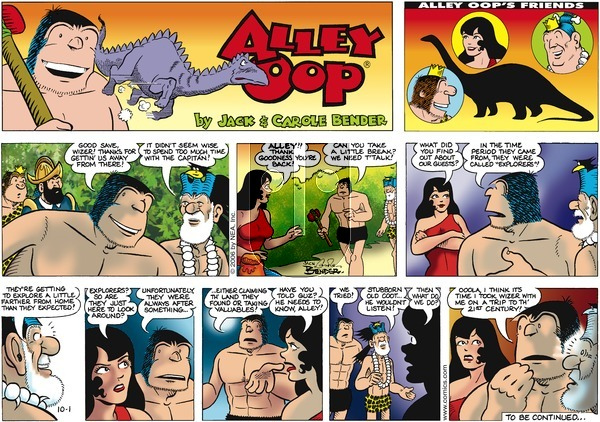 Alley Oop on Sunday October 1, 2006 Comic Strip