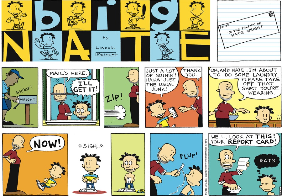 Big Nate Comic Strip for October 13, 2013