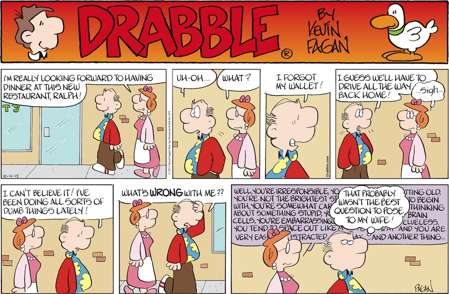 Drabble for Oct 14, 2012 Comic Strip