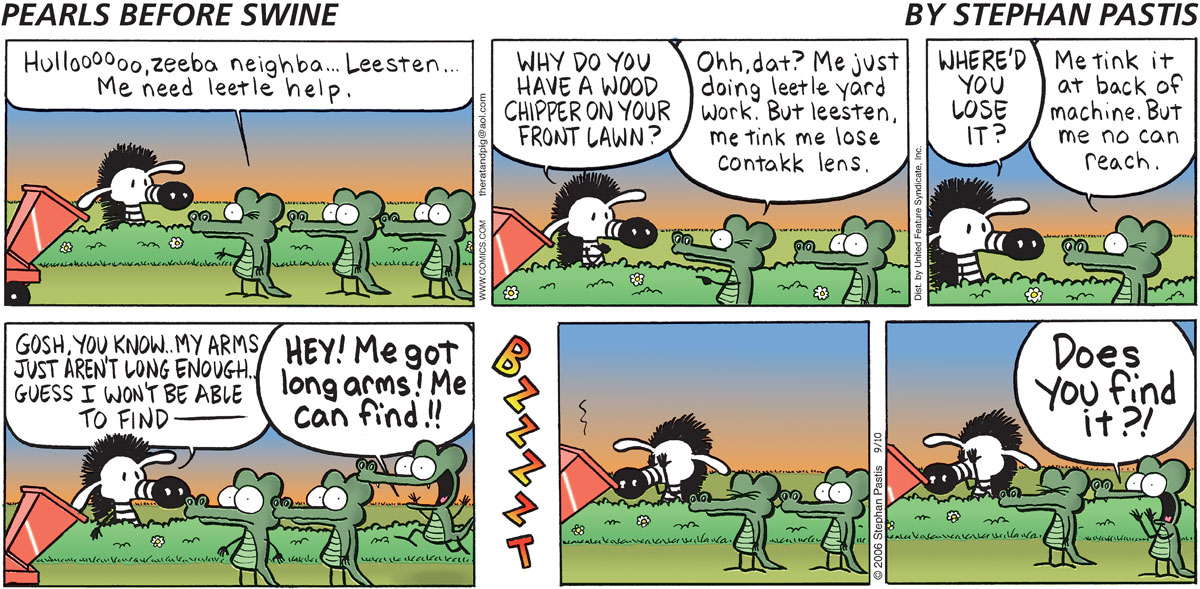 Pearls Before Swine Comic Strip for September 10, 2006