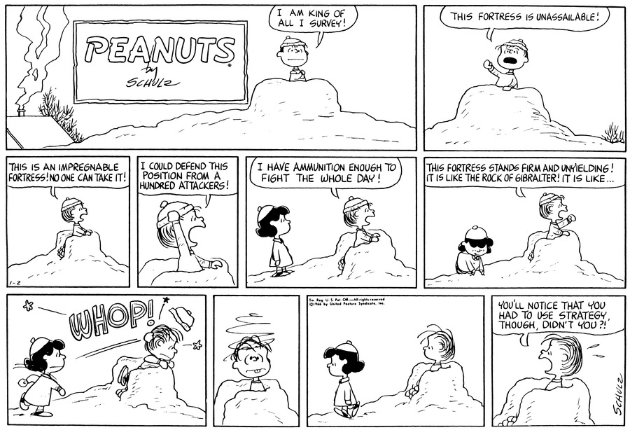 Peanuts Comic Strip for January 02, 1966