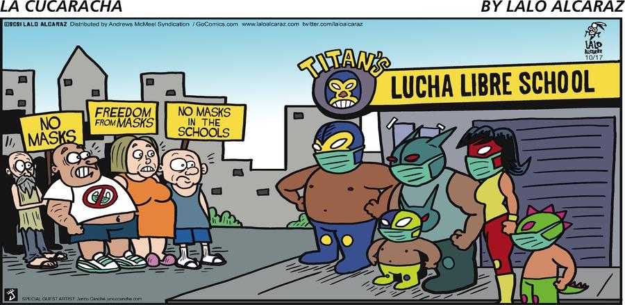 La Cucaracha by Lalo Alcaraz on Sun, 17 Oct 2021
