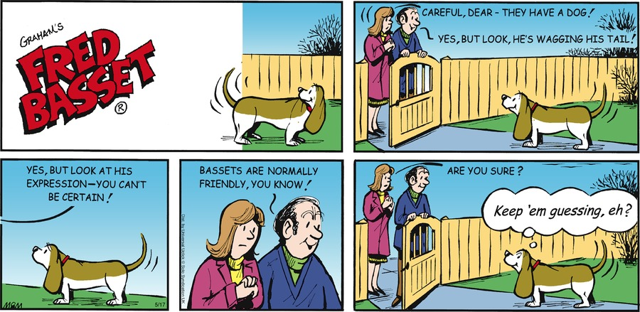 Fred Basset Comic Strip for May 17, 2015