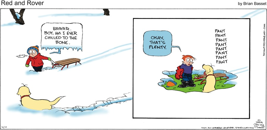 Red and Rover Comic Strip for February 17, 2019