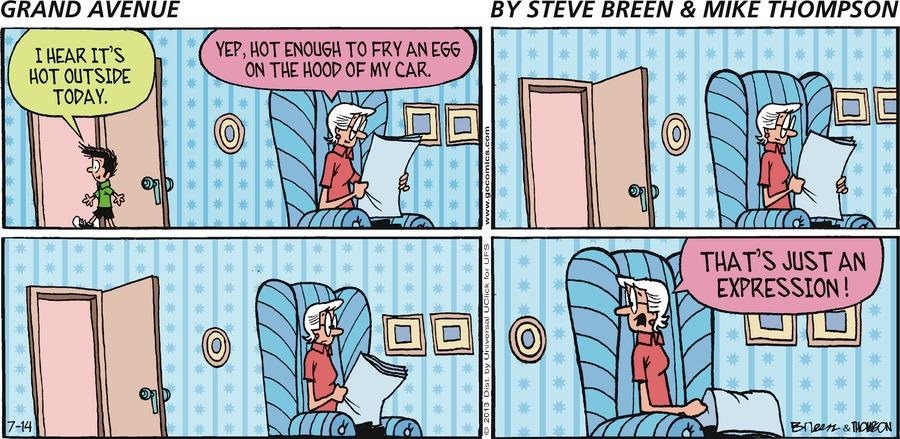 Grand Avenue Comic Strip for July 14, 2013