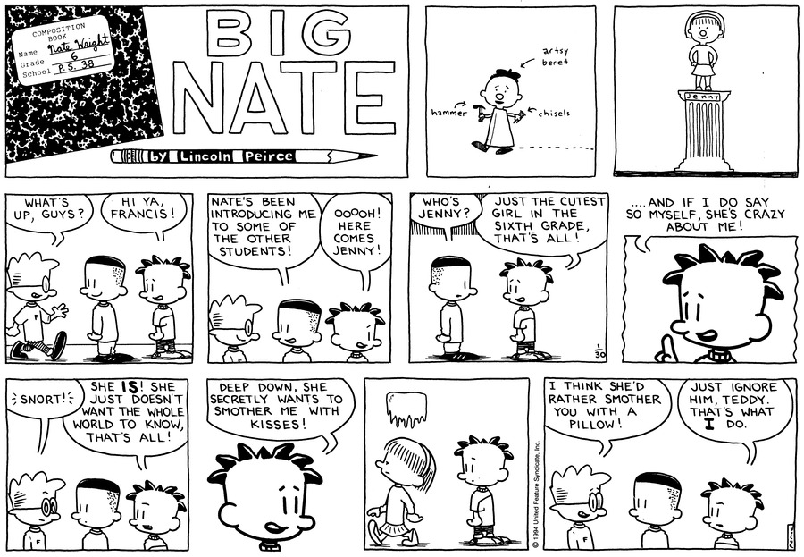 Big Nate: First Class Comic Strip for February 10, 2019
