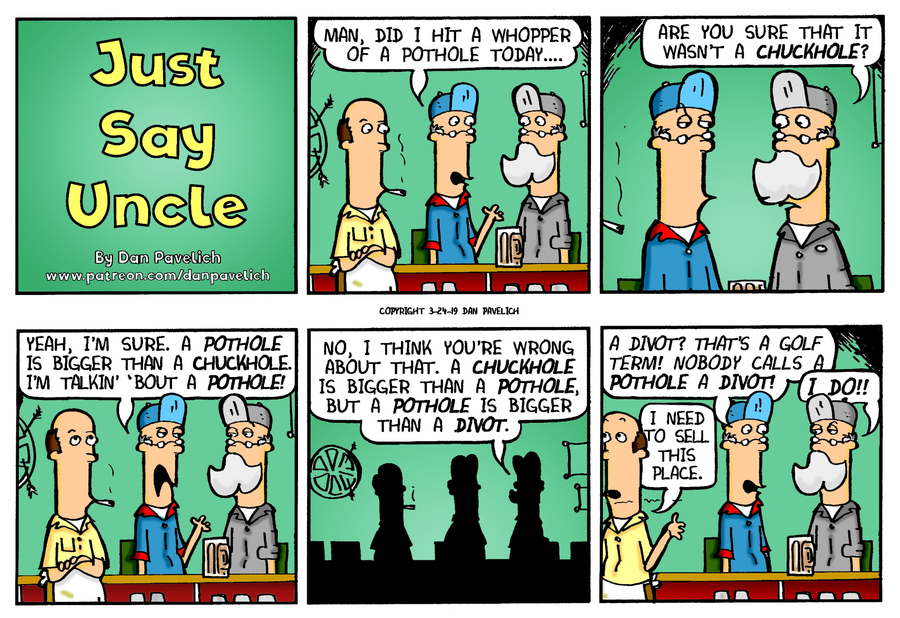 Just Say Uncle by Dan Pavelich for March 24, 2019
