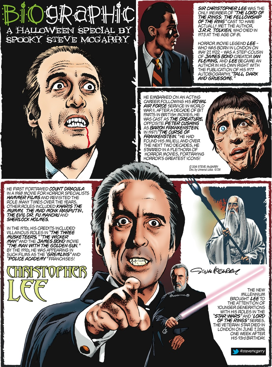Biographic Comic Strip for October 25, 2015