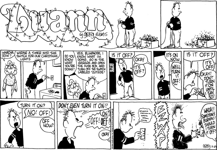 Luann Againn Comic Strip for November 29, 2020