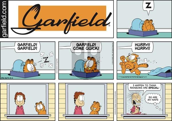 Garfield on Sunday August 12, 2018 Comic Strip
