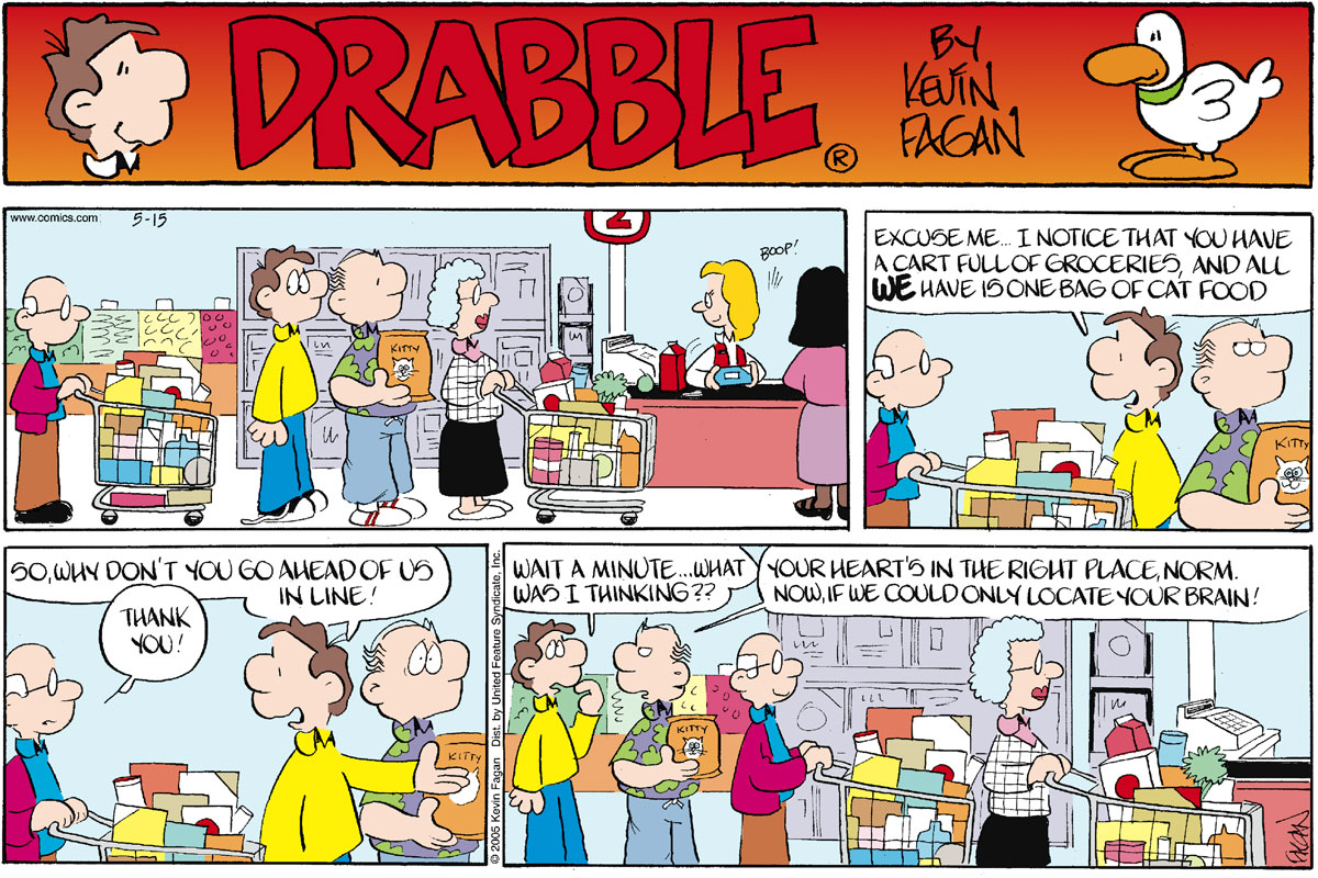 Drabble for May 15, 2005 Comic Strip