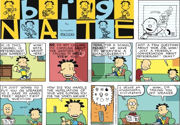 Big Nate on Sunday January 3, 2016 Comic Strip